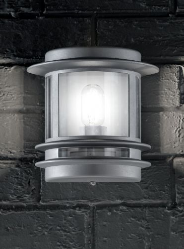 Franklite EXT6211 Silver Colour Wall Light